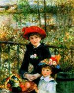 Two sisters (on the terrace).1881