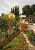 Garden Path in Louveciennes - Alfred Sisley Oil Painting