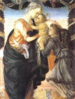 Madonna and Child with an Angel - Sandro Botticelli oil painting
