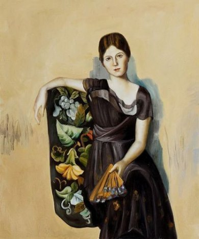 Portrait of Olga in the Armchair - Oil Painting Reproduction On Canvas