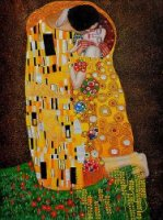 The Kiss (Full View) III - Oil Painting Reproduction On Canvas Gustav Klimt Oil Painting