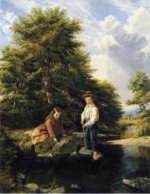 There's One-Catch 'Em! - Thomas Waterman Wood Oil Painting