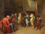 School Rules - William Holbrook Beard Oil Painting
