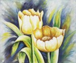 Beamly Tulips - Oil Painting Reproduction On Canvas