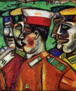 Soldiers - Marc Chagall Oil Painting