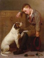 Best Friends - John George Brown Oil Painting