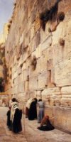 The Wailing Wall, Jerusalem - Gustav Bauernfeind Oil Painting