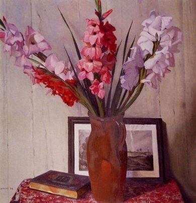 Still Life with Gladioli - Felix Vallotton Oil Painting