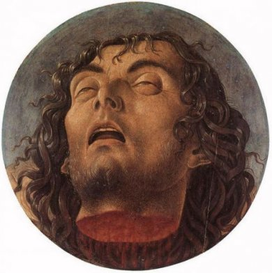 Head of the Baptist - Giovanni Bellini Oil Painting
