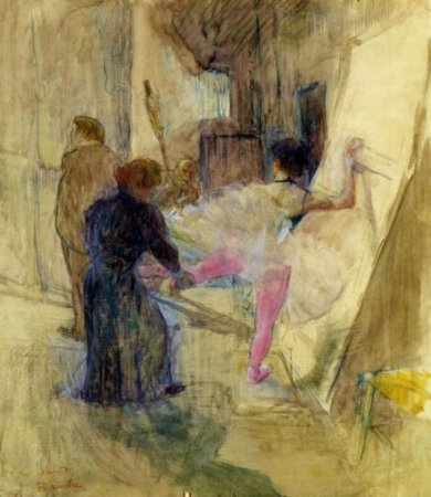 Behind the Scenes - Henri De Toulouse-Lautrec Oil Painting
