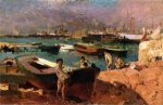 Valencia's Port - Oil Painting Reproduction On Canvas