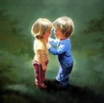Sharing Secrets - Donald Zolan Oil Painting
