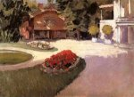 Garden at Yerres - Gustave Caillebotte Oil Painting