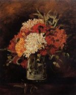 Vase with Carnations - Vincent Van Gogh Oil Painting