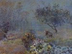 Foggy Morning, Voisins - Alfred Sisley Oil Painting