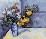 Flowers in a Vase III - Paul Cezanne Oil Painting