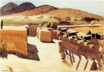 Adobe Houses - Edward Hopper Oil Painting