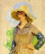 Grape Picker in a Yellow Hat - Oil Painting Reproduction On Canvas