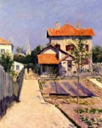 The Artist's House at Petit Gennevilliers - Gustave Caillebotte Oil Painting