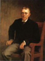 Portrait of James Whitcomb Riley - Theodore Clement Steele Oil Painting