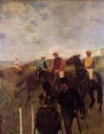 At the Races II -Edgar Degas Oil Painting