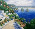 Placid Village - Oil Painting Reproduction On Canvas