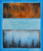 No. 61 Rust and Blue - Mark Rothko Oil Painting