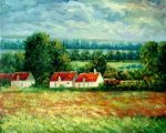 Field of Poppies, Giverny II - Claude Monet Oil Painting