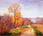 Along a Country Lane - Theodore Clement Steele Oil Painting