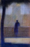 Man Leaning on a Parapet - by Georges Seurat