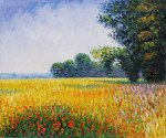 Oat Fields - Claude Monet Oil Painting