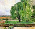 Landscape at the Jas de Bouffin - Paul Cezanne Oil Painting