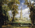 Salisbury Cathedral from the Bishop's Garden - John Constable Oil Painting