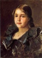 Portrait of Helen Velasquez Chase - William Merritt Chase Oil Painting Mary Cassatt Oil Painting