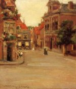 The Red Roofs of Haarlem - William Merritt Chase Oil Painting