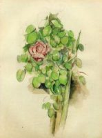Rose Bush - Paul Cezanne Oil Painting