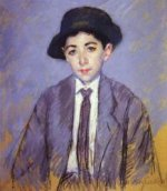 Portrait of Charles Dikran Kelekian at Age 12 - Mary Cassatt Oil Painting