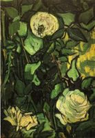 Roses and Beetle - Vincent Van Gogh Oil Painting