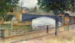 View of the Seine at Saint-Cloud - Edvard Munch Oil Painting