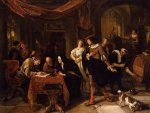 The Wedding of Tobias and Sarah - Jan Steen oil painting