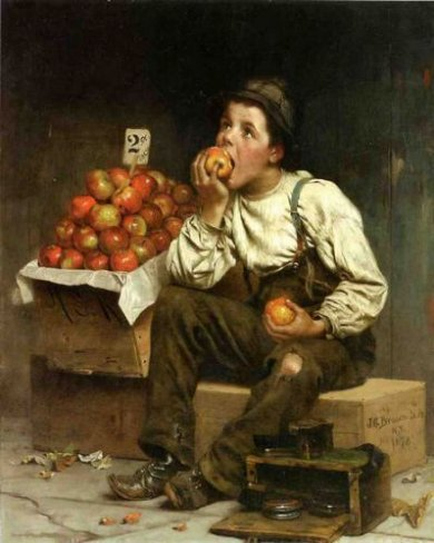 Eating the Profits - John George Brown Oil Painting