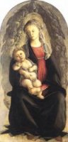Madonna in Glory with Seraphim - Sandro Botticelli oil painting