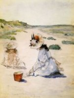 On the Beach, Shinnecock - William Merritt Chase Oil Painting Mary Cassatt Oil Painting