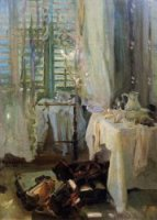 A Hotel Room - John Singer Sargent Oil Painting