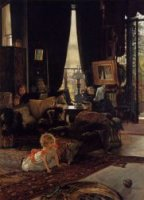 Hide and Seek - James Tissot Oil Painting