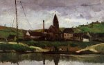 View of Bonnieres -Paul Cezanne Oil Painting