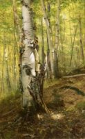 Silver Birches - John George Brown Oil Painting