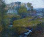 Lingering Rain, Moon and Eventide - Robert Vonnoh Oil Painting