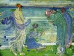 Variations in Blue and Green - James Abbott McNeill Whistler Oil Painting,
