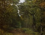 Avenue of Chestnut Trees near La Celle-Saint-Cloud II - Alfred Sisley Oil Painting